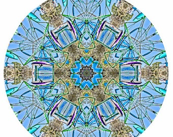 Kaleidoscope Carnival Paratrooper Heart Abstract - Fine Art Photography Print Picture