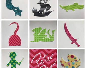 Peter Pan Iron on Appliques for Book Themed Baby Shower - Literary Baby Shower Craft Station