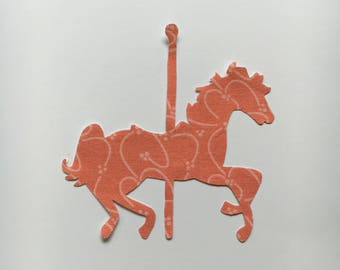 Carousel Horse Iron on Applique - Carousel Horse Applique for DIY Shirts, Quilts, and other Crafts