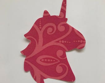 Iron on Unicorn Patch - Iron on Unicorn Applique - Unicorn Head - Unicorn Silhouette
