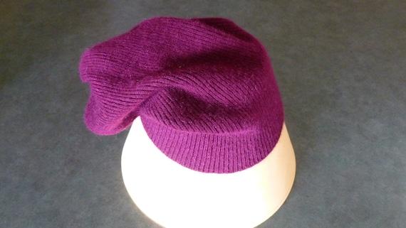 Unisex Men's Women's Purple Cashmere Hat Beanie Sk