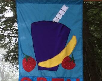 Fruit Smoothie flag on nylon sunbrella fabric
