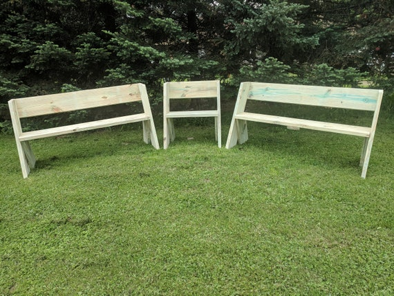 Terrific Outdoor Wood Bench Plan That Looks Great In The Woods Or Next To A Fire Or In The Garden And Patio Just The Plan Not The Physical Bench Alphanode Cool Chair Designs And Ideas Alphanodeonline