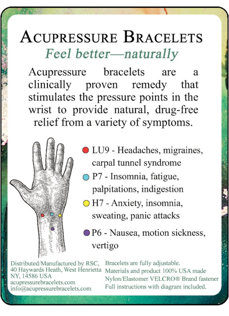Emotional Instability Fatigue Menopause Relief Aromatherapy single band Menstrual Cramps Black Acupressure Bracelet Jasmine