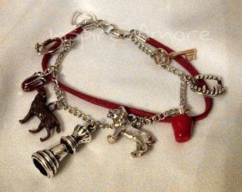 Twilight themed inspired charm bracelet