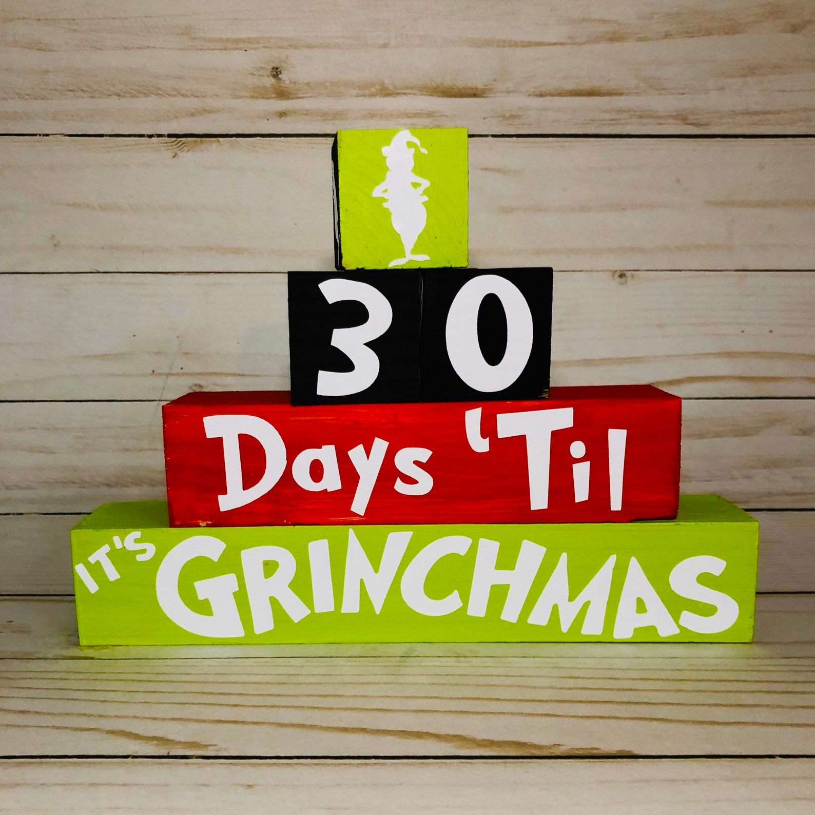 Grinch Christmas Countdown Blocks
