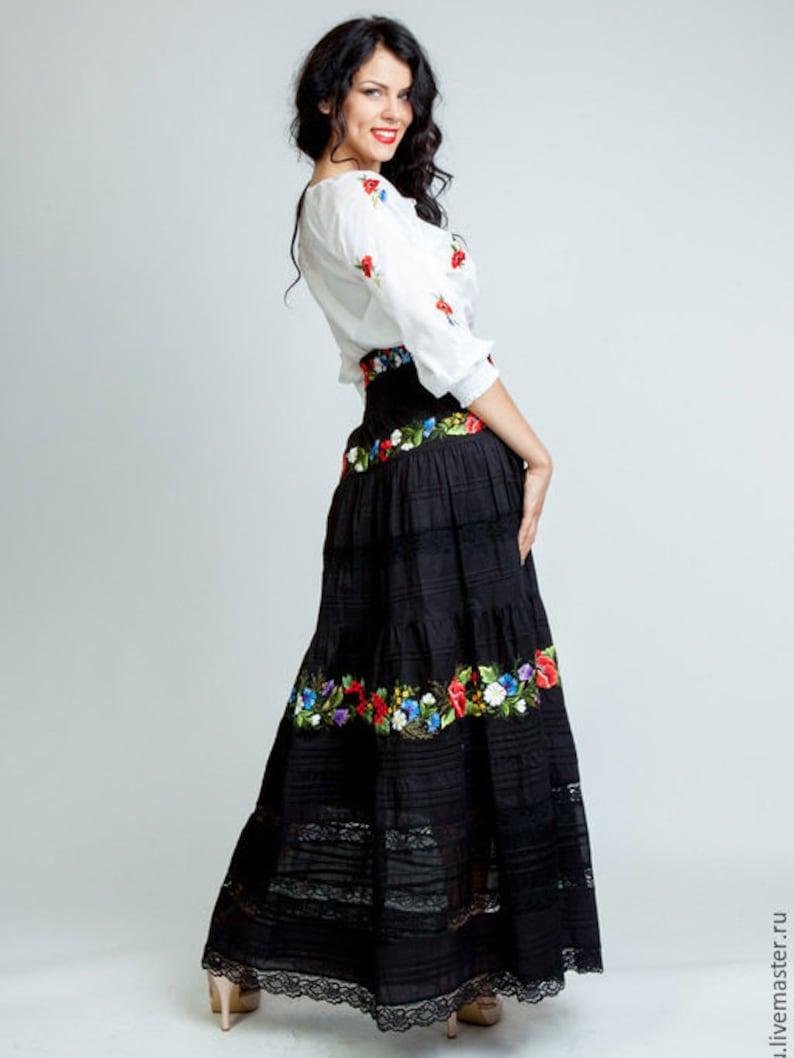 47a09b90ff Embroidered skirt chiffon maxi skirt floor lenght maxi skirt