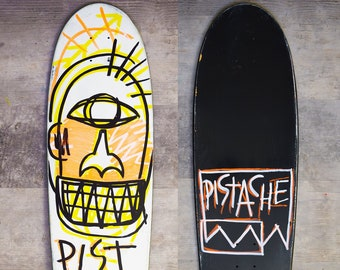 PISTACHE SKATE DECK (Hand Painted Tartalo Basque Cyclops Art)