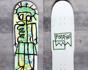 PISTACHE SKATE DECK (Hand Painted Basque Lamiak Art)