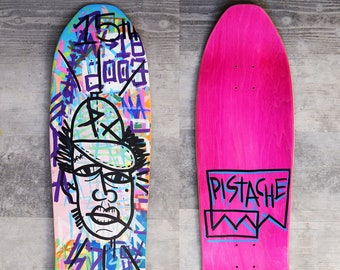 PISTACHE SKATE DECK (Hand Painted Sean Sheffey Portrait Art)