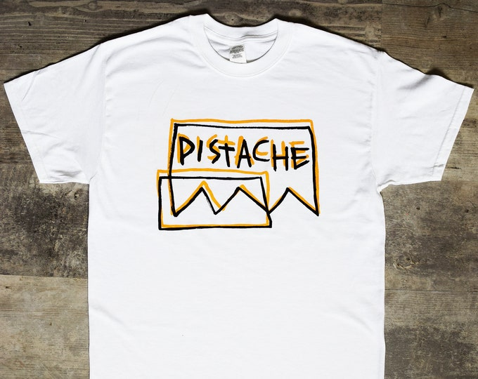 Featured listing image: SKETCH LOGO T-SHIRT (Screen Printed by Hand by Pistache)
