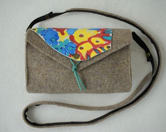 Manually painted handmade bag.
