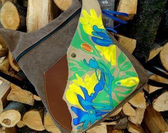 Handmade painted backpack
