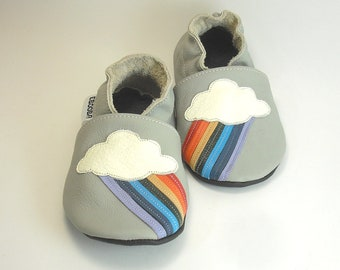 9403467d6 Rainbow Soft Sole Baby Shoes Leather Toddler Shoes