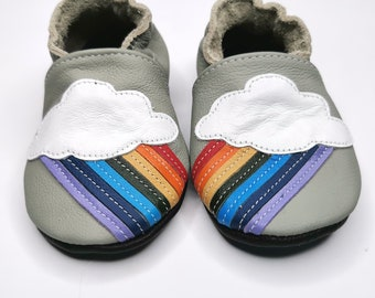 Baby shoes leather soft sole walkers