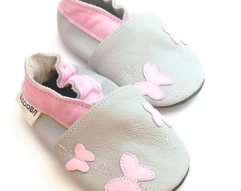 541b1ae6eec Bunny Baby Shoes. Pink Girl Shoes. Toddler Shoes. Soft Sole