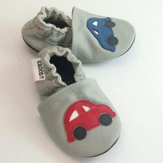 63fab3b8aaef9 Baby shoes Boys', Cars baby shoes, Kids' Slippers, Leather Baby Shoes, Baby  boy Moccasins, Soft Soled kids Booties, Shower Gift, Gray, 6