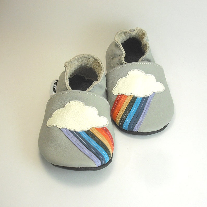 ec0b52665516e Rainbow Soft Sole Baby Shoes Leather Toddler Shoes, Girls', Infant Shoes,  Boys', Kibs Shoes, Toddler Moccasins, Baby Leather Booties, 1