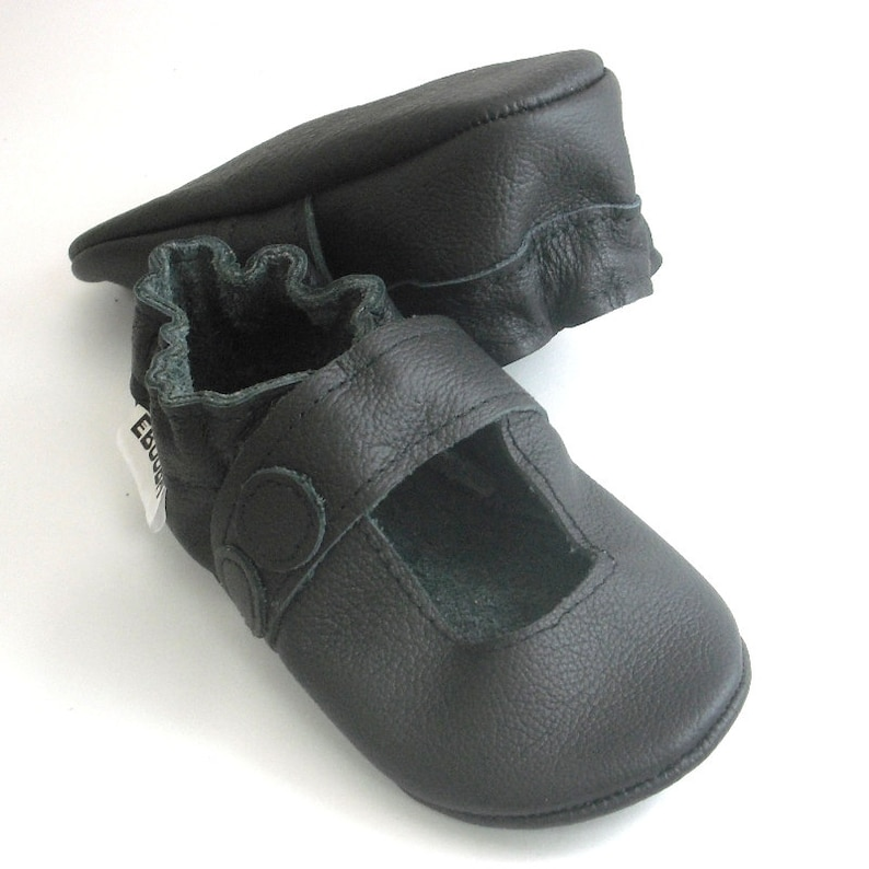 b497b27ef8828 Black sandals soft sole Baby Shoes, Baby Moccasins, Leather Baby Shoes,  Ebooba, Crib Baby Shoes, Girls' Baby Shoes, Black Baby Sandals, 6