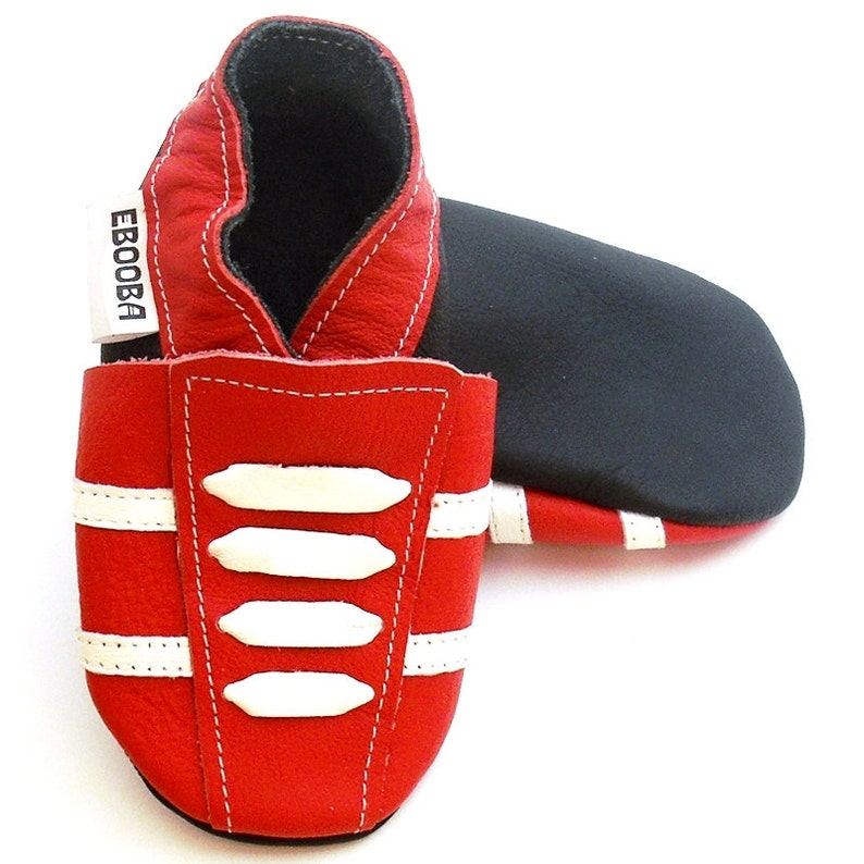 meet df2a5 17f23 Red Baby Shoes leather Sneakers, Krabbelschuhe, Сhaussons bébé, Baby  Moccasins, Ebooba, size 6-12 Months
