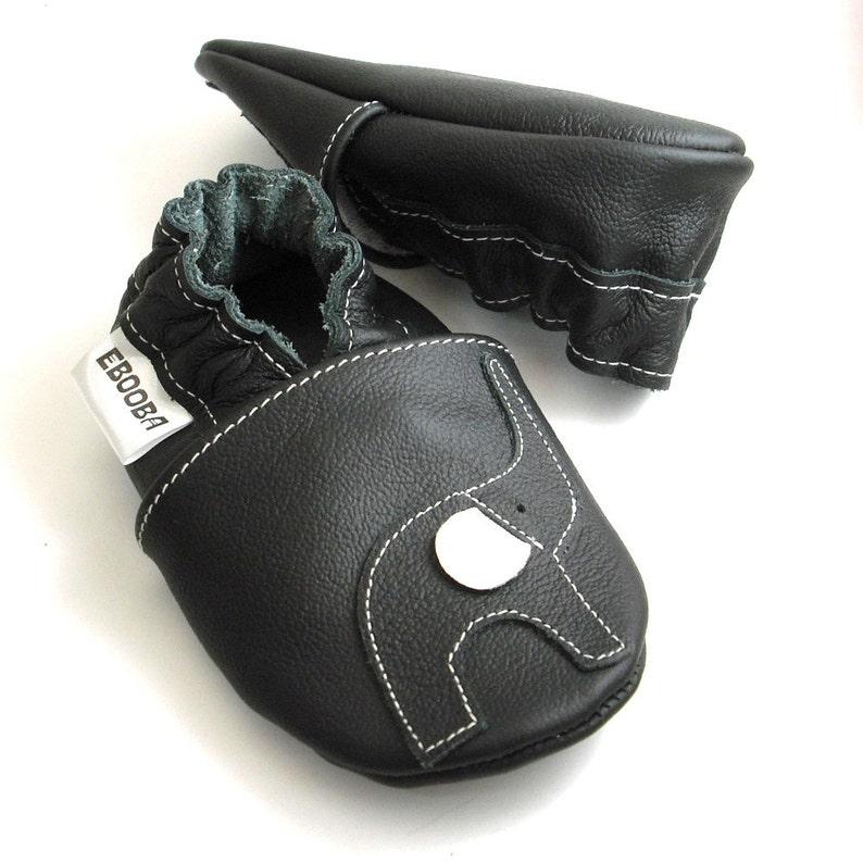 945ae5d78 Soft sole baby shoes infant handmade gift elephant black white | Etsy