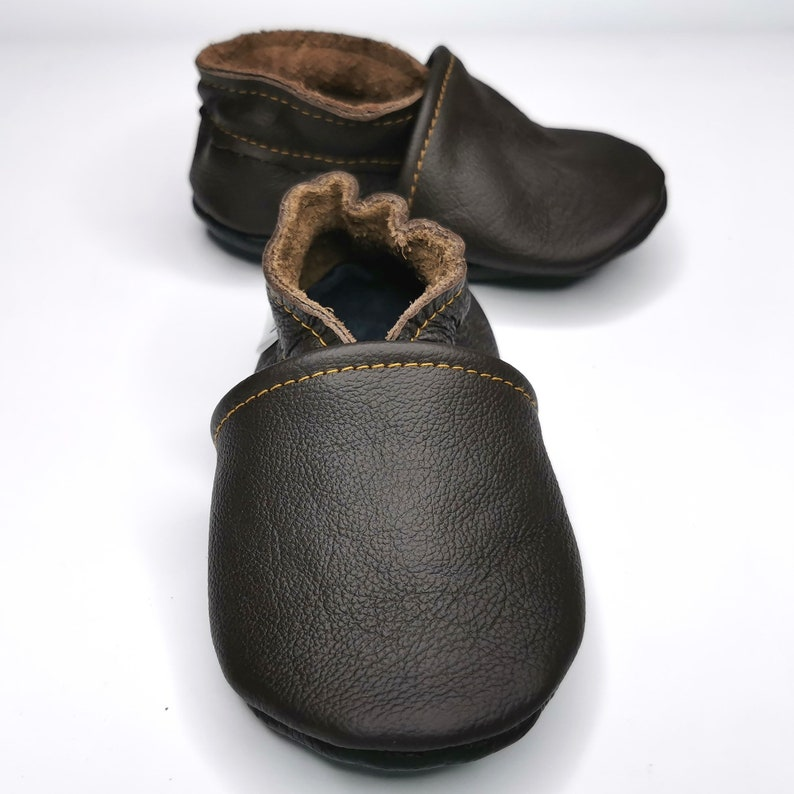soft sole baby shoes leather infant girl dark brown 12 18 Dark Brown