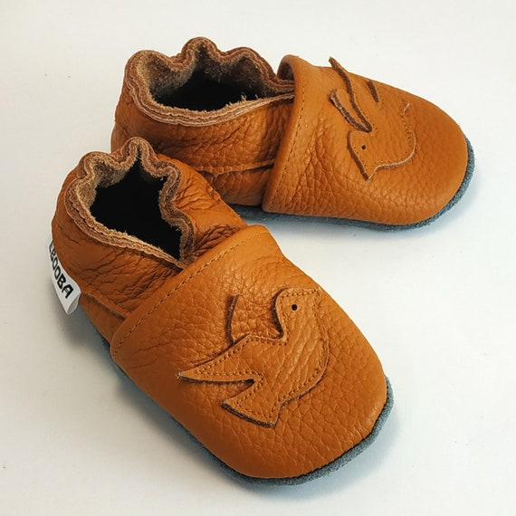 Carozoo Baby Shoes Leather Soft Sole Prewalker Crib Slippers Toddler Kids Shoes 0-6 Months to 7-8 Years