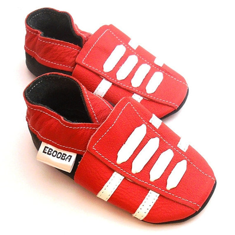 promo code 06d23 e3ebd Red Baby Shoes leather Sneakers, Krabbelschuhe, Сhaussons bébé, Baby  Moccasins, Ebooba, size 3-4 Years