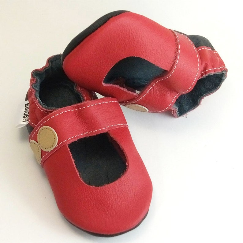 2-3 Years Red Baby Sandals Mary Jane