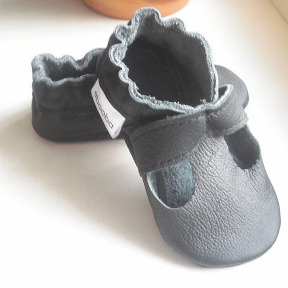 8702f9d6f249c Black Baby Shoes, Toddler Shoes, Black Baby sandals Leather, Soft Sole Baby  Shoes, Crib Shoes, Boys' Shoes, Kids Shoes, Toddler Sandals, 9