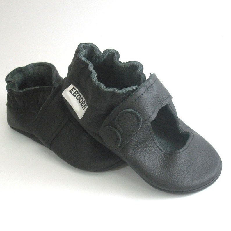 a21fc19c6733d Soft sole baby sandals Baby black shoes, Baby Moccasins Mary Jane, Leather  Baby Shoes, Ebooba, Toddlers Shoes, Girl Baby Shoes, Soft Soled