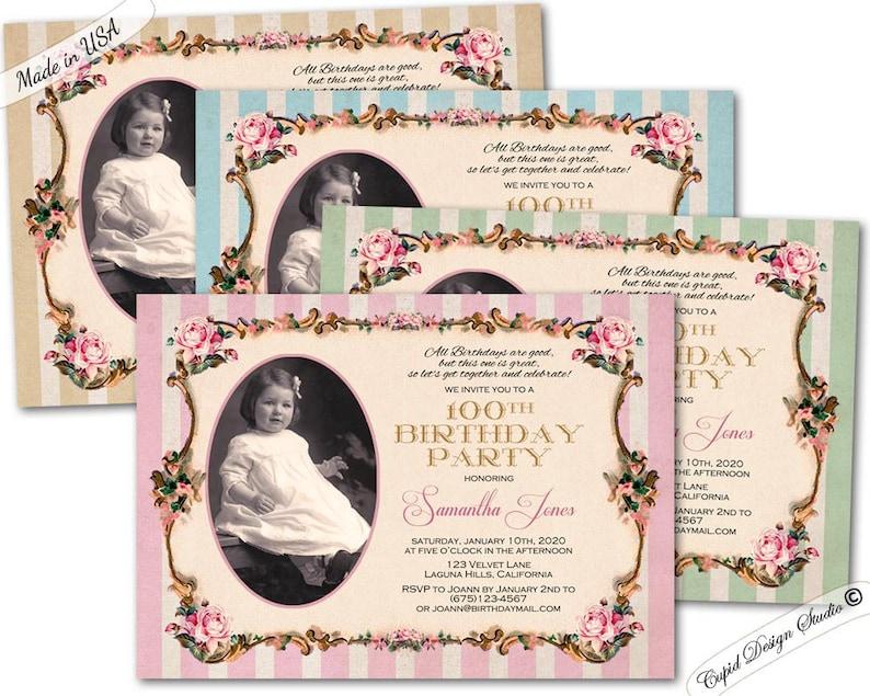 100th Surprise Birthday Party Invitation Milestone
