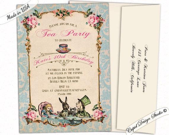 10 alice au pays des merveilles grow me tags vintage anniversaire tea party décorations