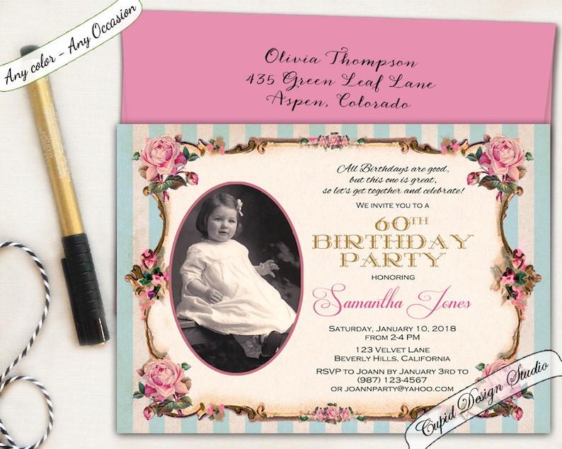 Elegant 80th Birthday Invitation Pink And Gold