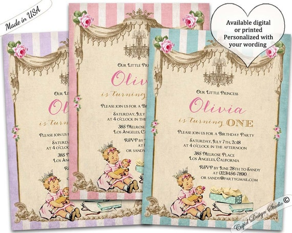 Girl 1st Birthday Invitation 2nd