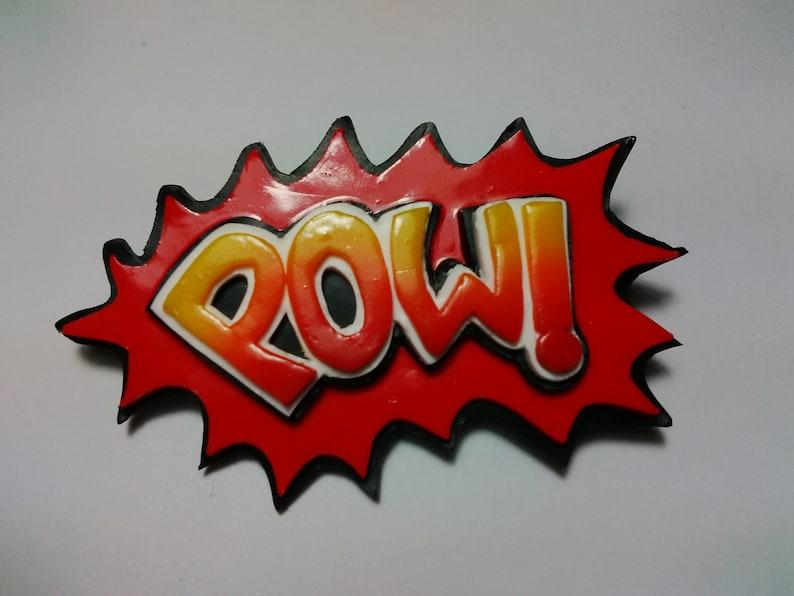 POW Pop Art Brooch/Badge/Pin image 0