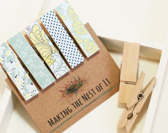 Light Blue and Yellow Clothespins Strong Magnets