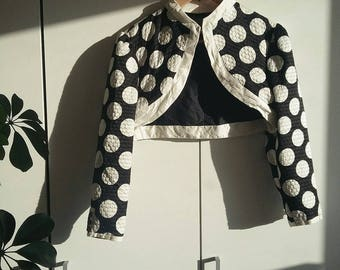 Polka Dot Vintage and Preloved Evening Bollero; worn, in excellent condition Size 8 USA