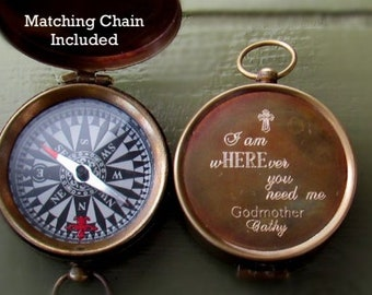 Personalized Compass, Baptism Gift Boy, Engraved Compass, Sundial compass gift Confirmation Gift Boy, Compass, Baptism Compass engraved gift