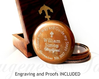 Engraved Compass, Confirmation Gift, ENGRAVING Included, Engraved Compass, Confirmation Compass, Confirmation Boy, Confirmation Gift Boys,