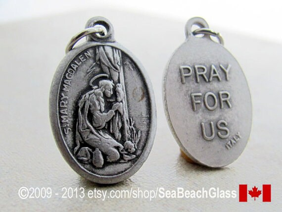 70b8b738dbf St. Mary Necklace Saint Mary Magdalen St Mary Magdalene St. | Etsy