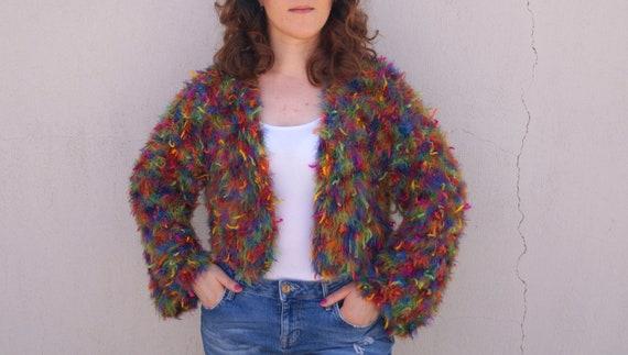 4509cb5841 Hand knit cardigan Boho oversize chunky cardigan Women s
