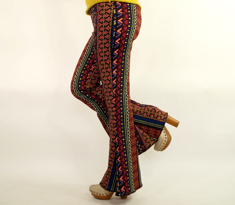 f1076c345ae48a Boho stripe Bell bottoms/Native American Flare pants/Women   Etsy