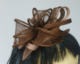 Dark Brown and Light Brown  Fascinator for wedding, Derby Day, Melbourne Cup