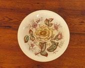 Antique John Maddock Sons Old Rose Vitreous China Round Bowl 9 quot