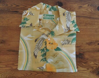 Vintage 60's Hawaiian Print Shirt Waltah Clarke
