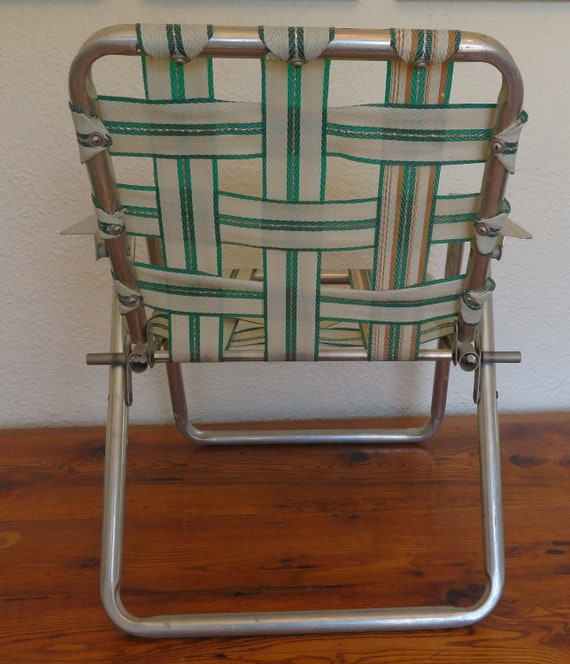 Awesome Vintage Childrens Kids Folding Lawn Chair Beach Camping Bbq Short Links Chair Design For Home Short Linksinfo