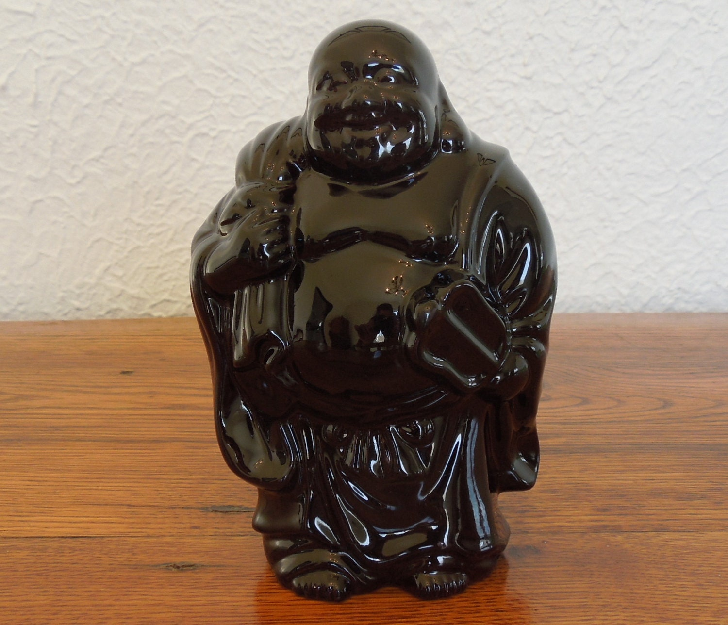 Buy Antique Handcrafted Buddha Lantern For Corporate: Vintage Ceramic Laughing Buddha Statue 6