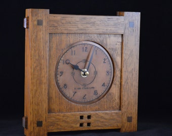 Craftsman II Small - Mission Style Wall Clock