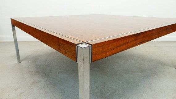 Mid Century Modern Knoll Richard Schultz Rosewood Chrome Legs Etsy